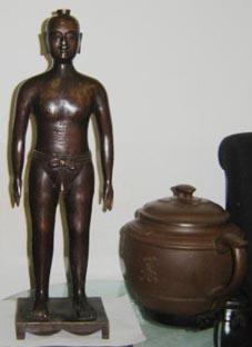 仿古針灸銅人|銅人針灸模型(真銅全銅 45CM 成人小型)
