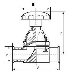卫生级不锈钢隔膜阀